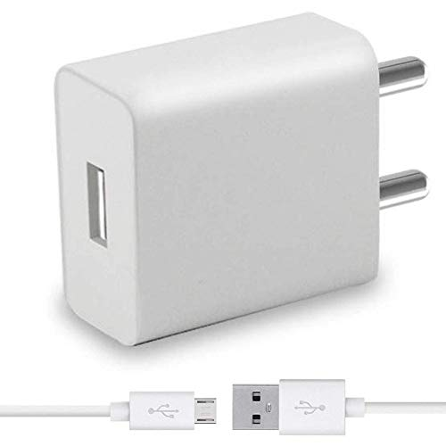 ShopsYes Adapter Like Fast USB Mobile Wall Charger for Lenovo K5 Note with 1 Meter Micro USB Charging Data Cable  2.4 A , White