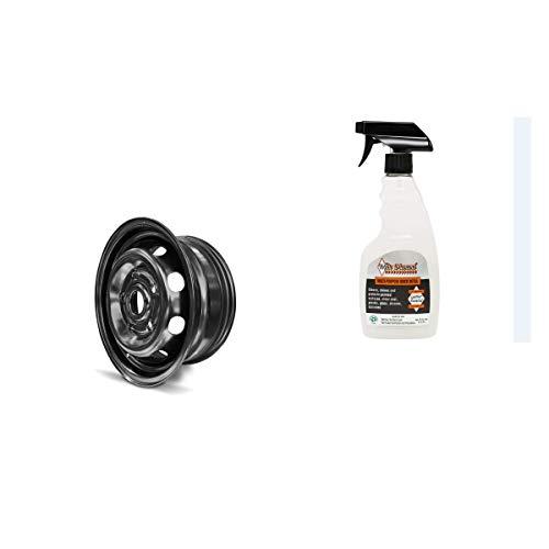 - 14 Inch Black Steel Wheel Rim Chevy Aveo (05-11) G3 (09-10) Wave (05-10) & White Diamond Multi Purpose Quick Detail Rim Cleaner (Bundle Set)