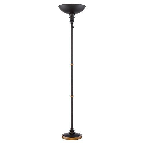 Malibu Dark Bronze LED Touch Dimmer Torchiere Floor Lamp