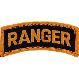 US Army - Tab Ranger, Embroidered Patches, Premium Quality Iron On Patch - 3""