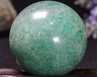 Spiritual Elementz Reiki guarigione Naturale Amazzonite Sphere Ball Aura bilanciamento Metaphysical Ball