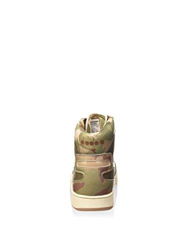 Diadora Mi Basket Camo, Chaussures Mixte Adulte CAMO/VERT/BEIGE