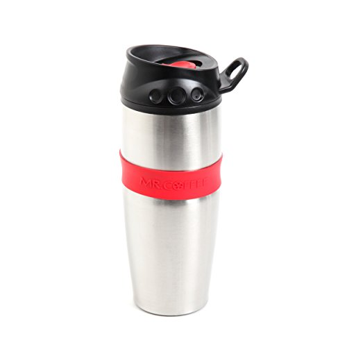 Mr Coffee 91684.03 Java Supreme Travel Tumbler, 16 oz, Stainless Steel