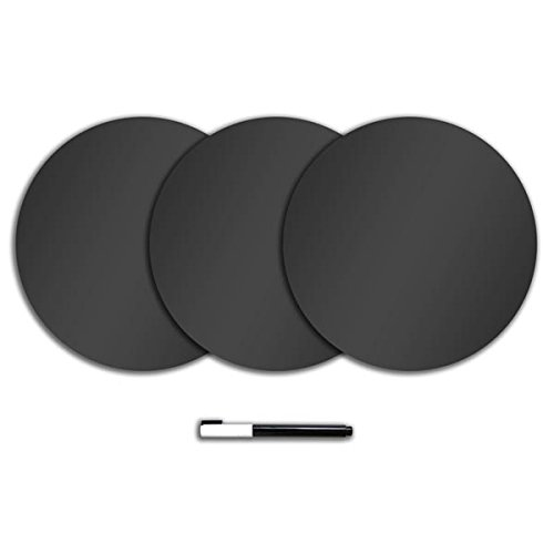 Wallpops TWPE0974 Dry Erase Dots, Charcoal (Set of 2)