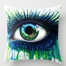 Elegancebeauty 18 X 18 Inches / 45 By 45 Cm Slimmingpiggy Comfortable Bedding Blue Green Big Eyes 18x18 Inch Pillow Case Pillowcase,twin Sides Is Fit For Floor,kids Boys,sofa,floor,dining Room,adu