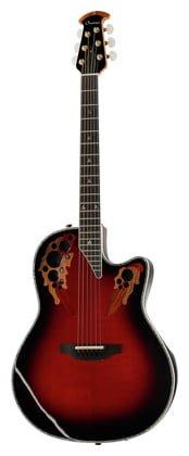 Ovation American LX Series 6 String Acoustic-Electric Guitar, Right, Black Cherry Burst (C2078LX-BCB) ()