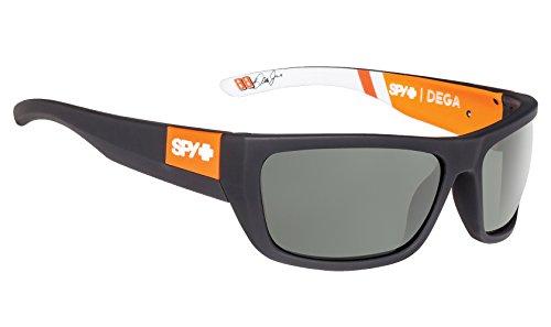 (Spy Optic Dega Shield Sunglasses, Happy Gray/Green, 1.5 mm)