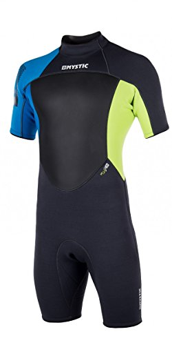 Mystic Star (Mystic STAR 3/2 Flatlock Shorty Wetsuit 2017 - Lime M)