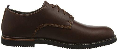 Timberland Brook Park - Zapatos Derby para hombre Marrón (Red Brown Smooth)