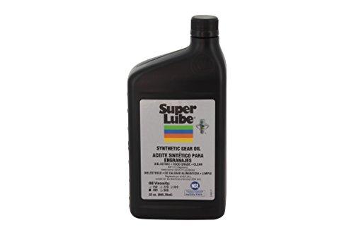 Food Grade Gear Oil - Super Lube 54432 Synthetic Gear Oil ISO 460, 1 quart Bottle, Translucent