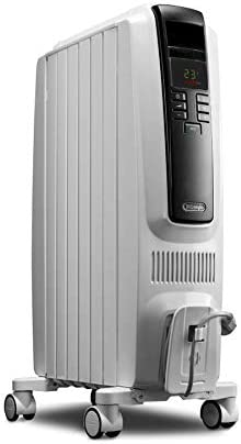 Amazon Com De Longhi 1500 Watt Oil Filled Radiant Tower Electric Space Heater With Thermostat Energy Saving Setting Home Kitchen