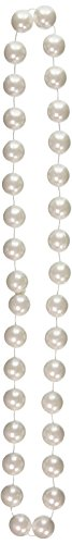 [Jumbo Party Beads (pearl white) Party Accessory  (1 count) (1/Card)] (Jumbo Mardi Gras Beads)