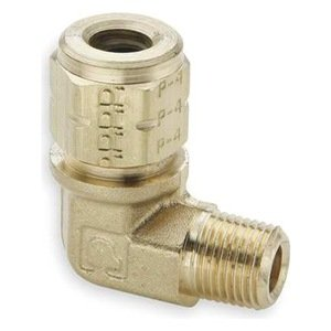 3//16 and 1//8 Pack of 20 3//16 and 1//8 Compression and Male Pipe 90 Degree Elbow Vibra-Lok Pack of 20 Parker 169VL-3-2-pk20 Compression Style Fitting Tube to Pipe Brass