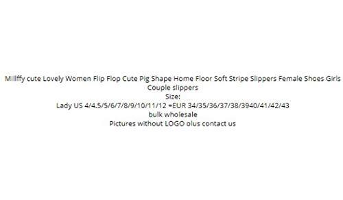 Forme Chaussons Mignon Stripe Café Chaussures Doux Flops Femme Flip Porc Floor Home Women Cute Lovely nqw4FTY4