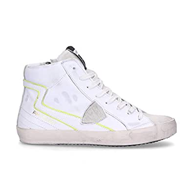 Philippe Model Luxury Fashion Womens CLHDLV01 White Hi Top Sneakers   Fall Winter 19