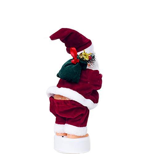 CAIDUD Dancing Santa Claus Music Santa Claus Cute Christmas Doll Plastic Home Decor Celebration ()