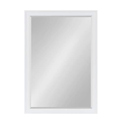 DesignOvation Bosc Framed Wall Mirror, 27.5x39.5, White