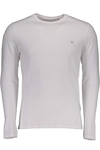 Uomo Lunghe M84i00j1300 Jeans Guess T shirt Bianco Maniche Twht 6HwYRqRpx
