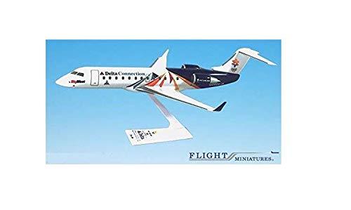 SkyWest Olympic 2002 CRJ200 Airplane Miniature Model Plastic Snap-Fit 1:100 Part# ACA-20000C-300
