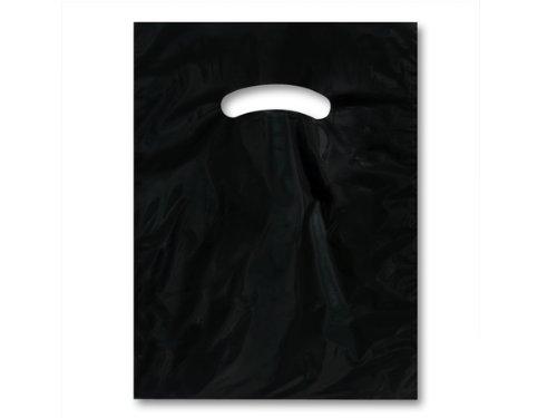 BLACK Super Gloss Bags 9 x 12''Recycled Plastic Bags 1.25 mil 1 unit, 1000 pack per unit.