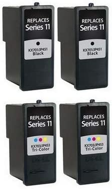 SuppliesMAX Compatible Replacement for Dell 948 AIO//V505//V505W Inkjet Combo Pack 2-Black//2-Color 592-10327/_2PK//592-10328/_2PKMP Series 11