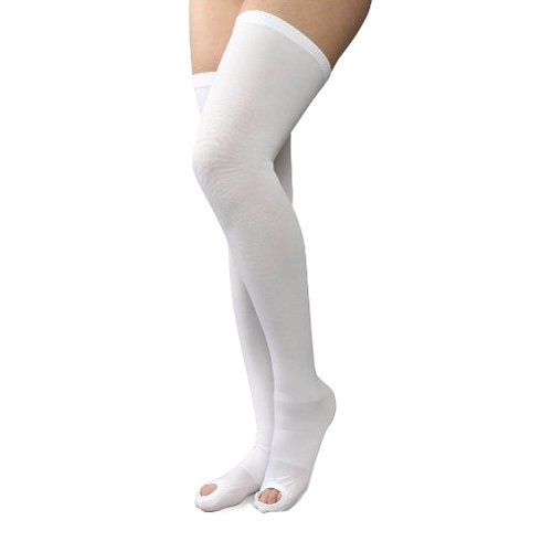 Therafirm Anti Embolism Open Toe Thigh Stockings