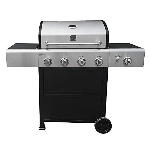 Kenmore PG-40406S0L-AM Outdoor Patio 4 Gas BBQ Propane Grill with Side Burner in, Black/Stainless Steel