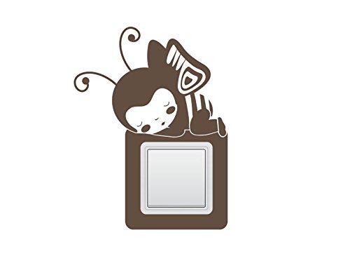 Wandtattoo Schalter-Steckdosentattoo süsser Engel Nr 1 Wandschalter Lichtschalter Engels-Aufkleber Deko Engel Größe 15x27 cm | zweier Hochformat, Farbe Kupfer