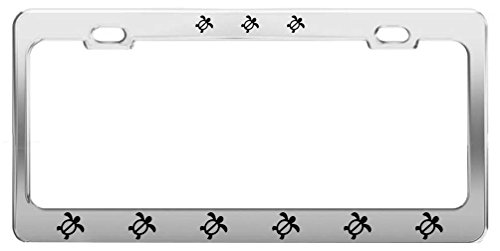 Turtle ANIMAL Metal License Plate Frame Tag Holder Auto Accessories (Sea Animal License Plate Frame)