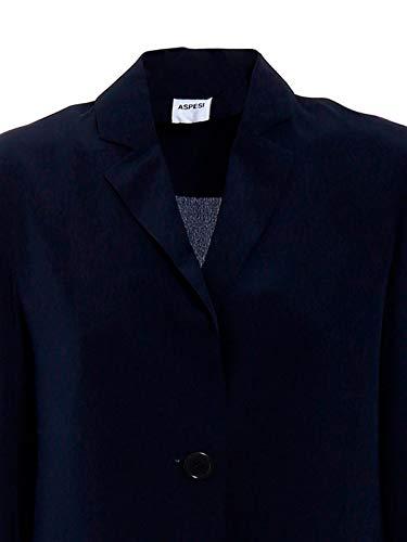 H308b75305098 Mujer Blazer Azul Aspesi Seda g0Yqwn5