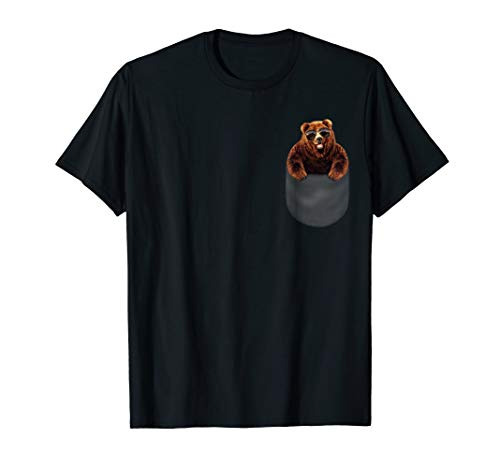 T-Shirt, Swag Grizzly Bear in Aviator Sunglass, - Bear Swag