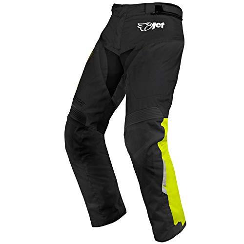 Motorradhosen Textilhose Wasserdicht Winddicht Mit Protektoren, Schwarz,52 Kurz / Weite 36 Länge 30 (XL)
