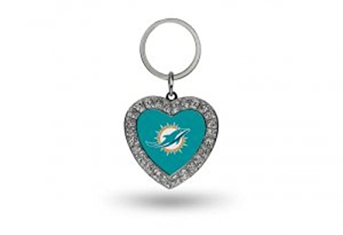 NFL Miami Dolphins Rhinestone Heart - White Dolphins Ring