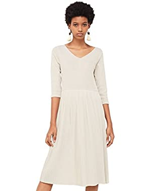 Mango Women's Pleated Hem Dress