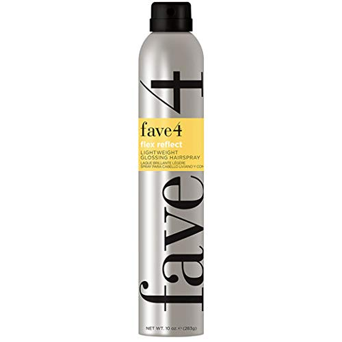 - fave4 Flex Reflect Lightweight Glossing Hairspray - Reflective Light Hold for Long, Moveable Layers - Safe for Color Treated Hair and Sulfate, Paraben, Gluten, and Cruelty Free, Agave Pear (10 oz)
