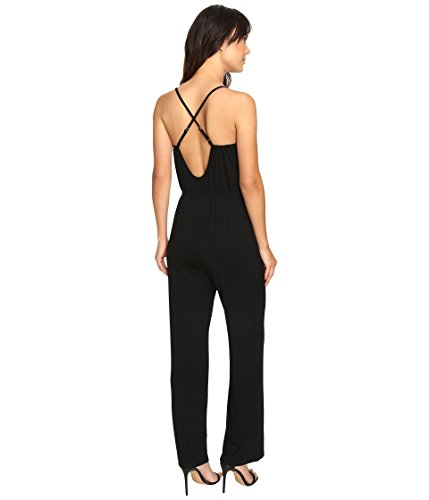 Culture Phit Women's Jeanette Spaghetti Strap Jumper with Open Back Black Jumpsuit SM