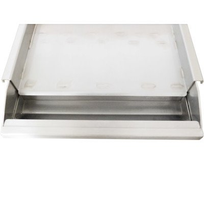 Sunstone SUNGD13 13 Gauge 304 Stainless Steel Griddle with Removable Tray, 13-Inch by SUNSTONE