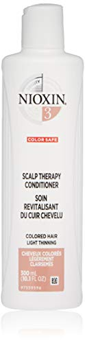 Nioxin Scalp Therapy Conditioner System 3 for Color Treated Hair with Light Thinning, 10.1 Ounce