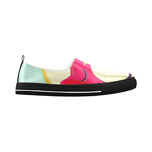 D-story Custom Love Gufo Slip-on In Microfibra Scarpe Da Uomo Sneaker