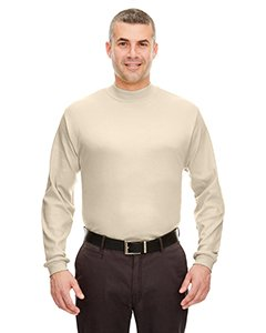 - UltraClub Adult Egyptian Interlock Long-Sleeve Mock Turtleneck L Stone