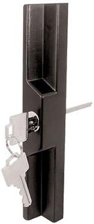 Slide-CO 141860 puerta corredera exterior Pull con clave, Negro/fundido: Amazon.es: Bricolaje y herramientas
