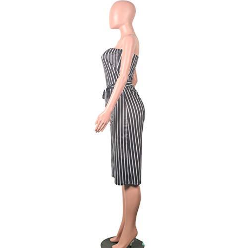 Jumpsuit Playsuit Casual Women Summer Shoulder Off Length Knee wU80q8BWn