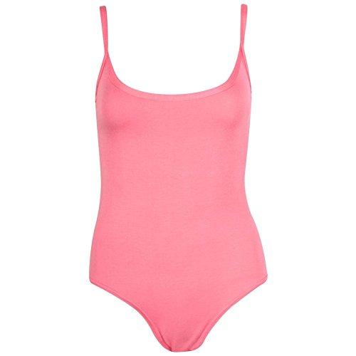 Janisramone - Camiseta sin mangas - Básico - Sin mangas - para mujer Coral