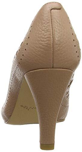 Ruby Con nude Avorio Donna Leather Clarks Dalia Tacco Scarpe 7qtnfxvF5
