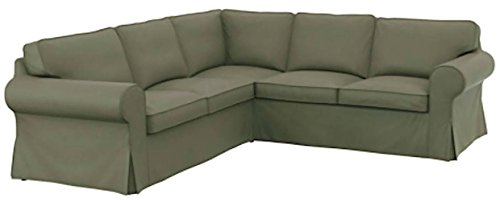 The Thick Cotton Ikea Ektorp 2 2 Sofa Cover Replacement Is Custom Made for Ikea Ektorp Corner Or Sectional Sofa Slipcover (Dense Cotton Dark Gray) by Custom Slipcover Replacement