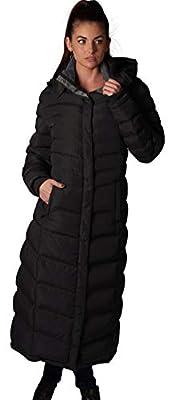 ELORA Women's Full Length Fleece Lined Maxi Puffer Coat