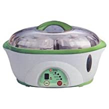 Welbon TSC-500B Electric Stewpot with Twin Mini Ceramic Pots & 1 Large Oval Ceramic Bowl