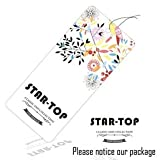 luminous iPhone 6 Case/STAR-TOP Ultra Slim Color Emboss Starry Night Galaxy and Interstellar Coated Non Slip case for iPhone 6 iPhone 6s 4.7 inch (Black)