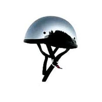 Amazon Com Skid Lid Chrome Original Half Helmet Xl For