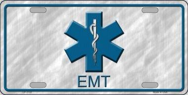 Smart Blonde EMT Metal Novelty License Plate LP-2132